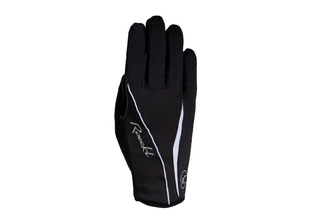 roeckl wanda damen handschuhe schwarz wei online kaufen. Black Bedroom Furniture Sets. Home Design Ideas